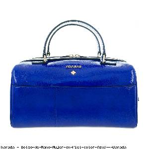 Bolso de Mano Mujer en Piel color Azul - Barada