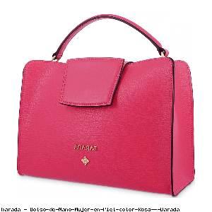 Bolso de Mano Mujer en Piel color Rosa - Barada