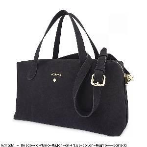 Bolso de Mano Mujer en Piel color Negro - Barada