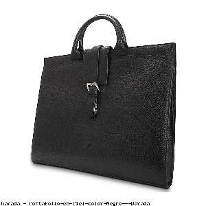 Portafolio en Piel color Negro - Barada