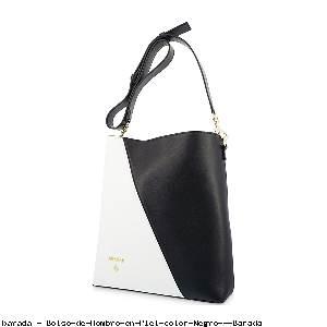 Bolso de Hombro en Piel color Negro - Barada