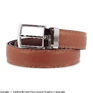 Cinturón en Piel color Cuero - Barada