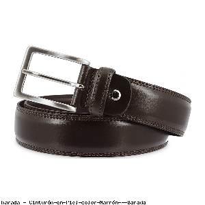 Cinturón en Piel color Marrón - Barada