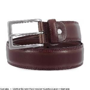 Cinturón en Piel color Castellano - Barada