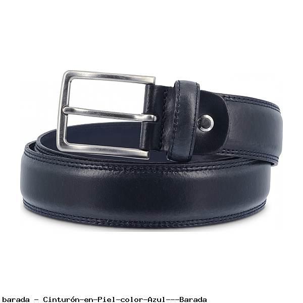 Cinturón en Piel color Azul - Barada