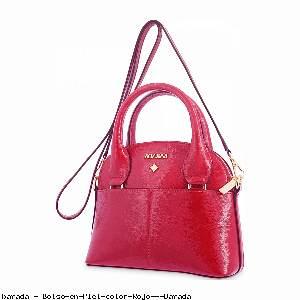 Bolso en Piel color Rojo - Barada