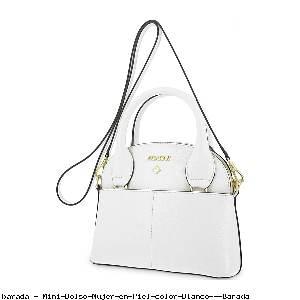 Mini Bolso Mujer en Piel color Blanco - Barada