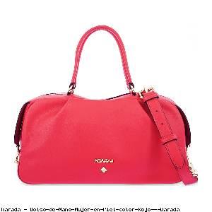 Bolso de Mano Mujer en Piel color Rojo - Barada