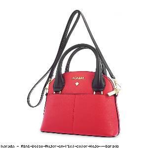 Mini Bolso Mujer en Piel color Rojo - Barada