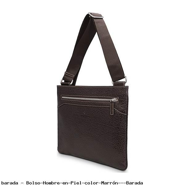 Bolso Hombre en Piel color Marrón - Barada