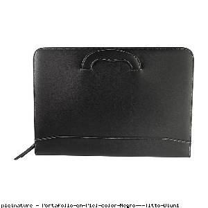 Portafolio en Piel color Negro - Titto Bluni