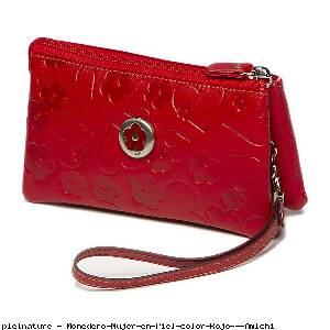 Monedero Mujer en Piel color Rojo - Amichi