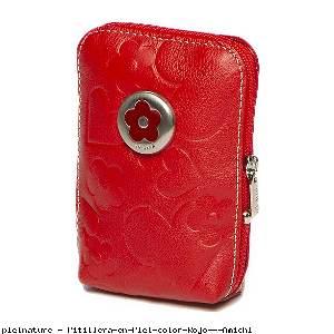 Pitillera en Piel color Rojo - Amichi