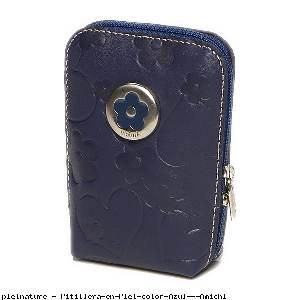 Pitillera en Piel color Azul - Amichi